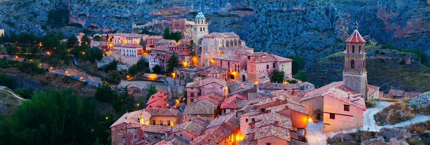 Evening view of albarracin
