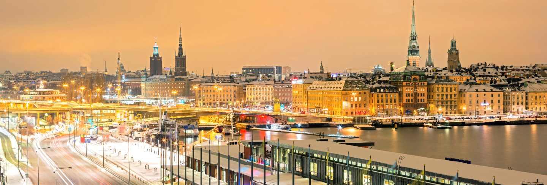 Stockholm cityscape panorama