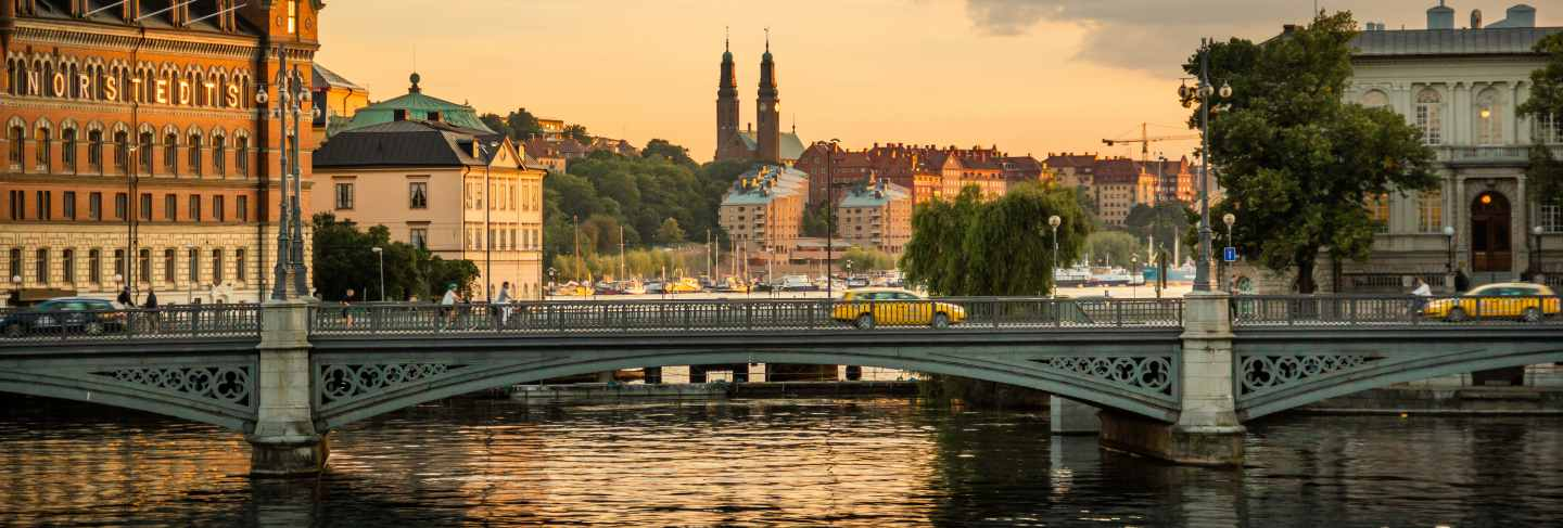 Old stockholm cityscape