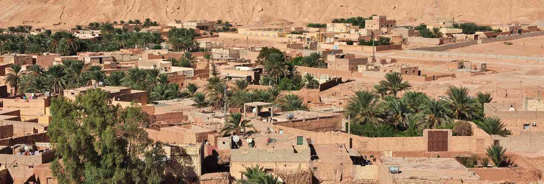 The small village in sahara desert, Algeria