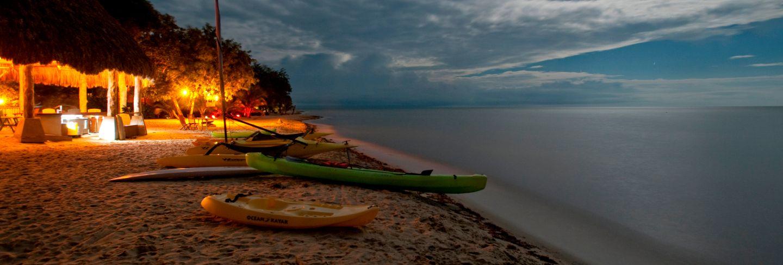 Yucatan peninsula, sunset on beach