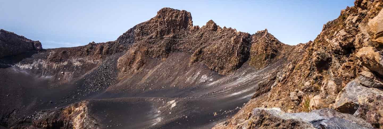 Pico do fogo crater, cha das caldeiras, cape verde