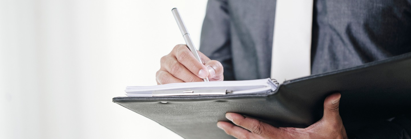 Signing business contracts
