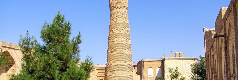 Kalyan minaret of poi-kalyan mosque complex in bukhara