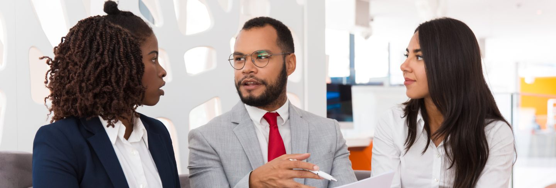 Legal expert explaining contract detail