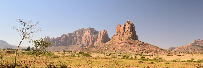 Ethiopian landscape in the tigray region