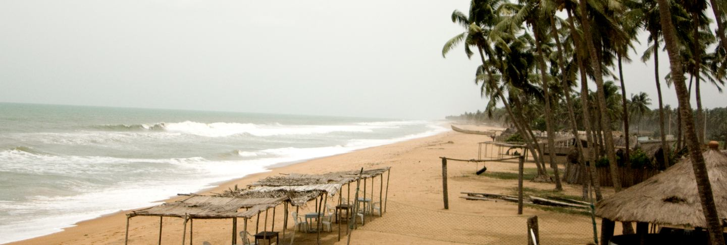 View of the beach in benin