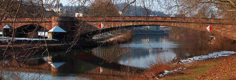 Saarbruecken bridge city germany landscape sky