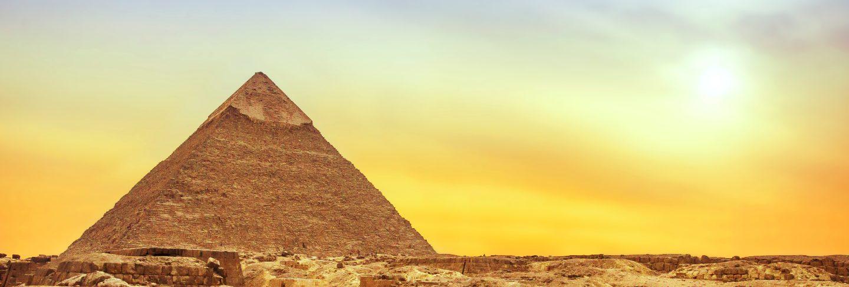 Giza pyramid at sunset