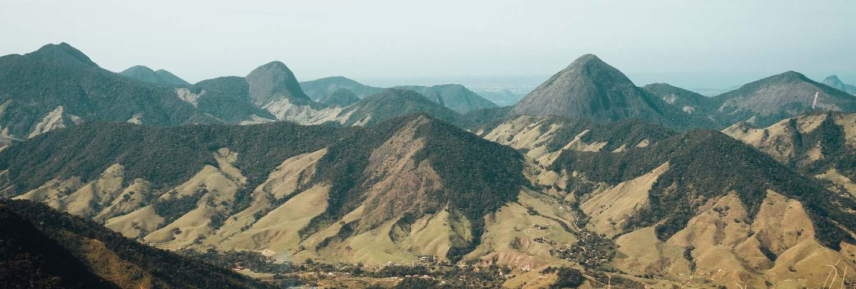 Beautiful landscape of rio de janeiro mountains scenery
