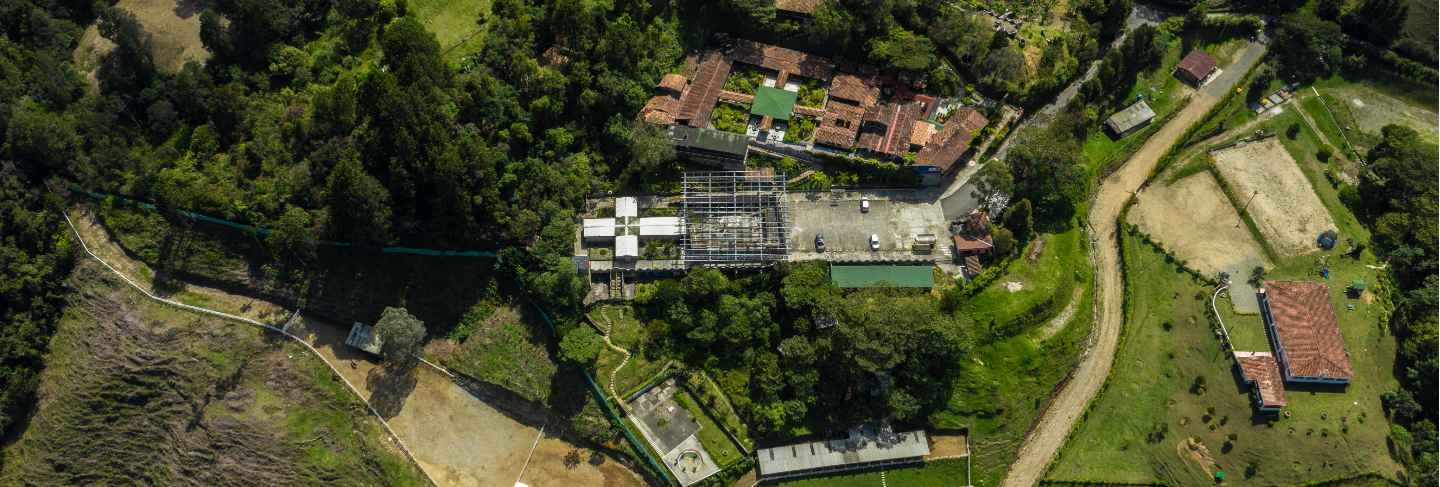 La catedral: inside the luxurious prison colombia allowed pablo escobar to make for himself. top view