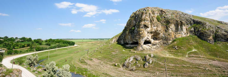 Cave in toltre near the butesti village, moldova