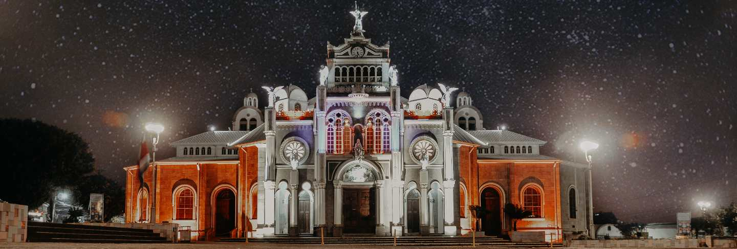 Basilica our lady of the angels, church, night, starry sky