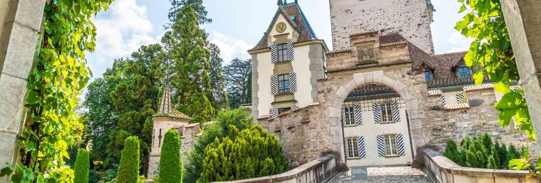 Oberhofen castle in switzerland