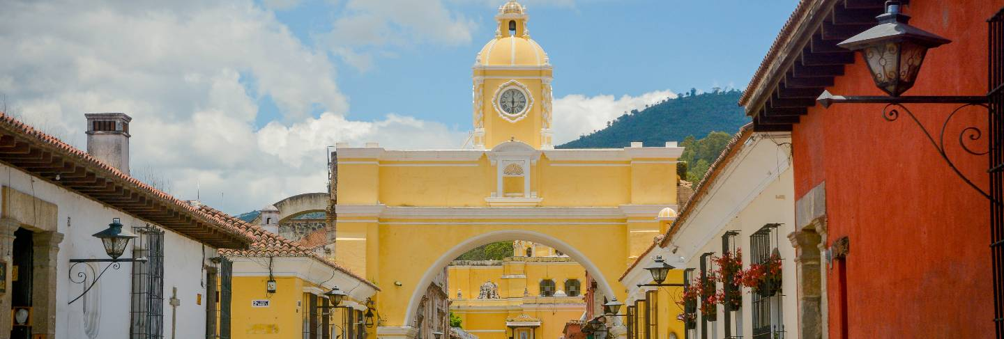 Arch of santa catalina antigua guatemala.