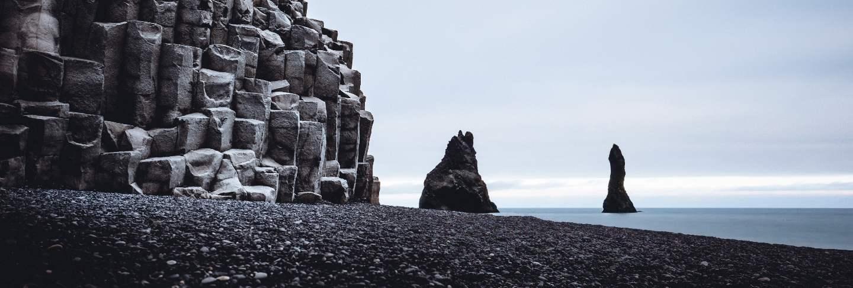 Reynisfjara rocks and the beautiful sea