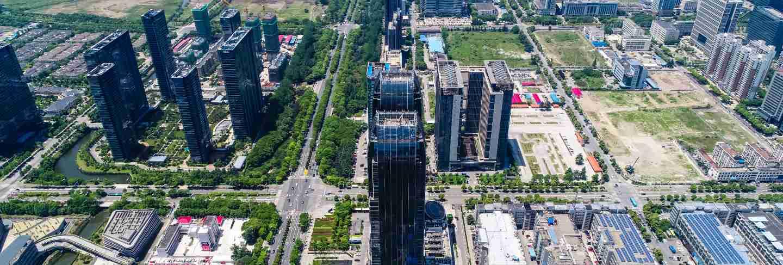 Hight rise condominium and office buildings