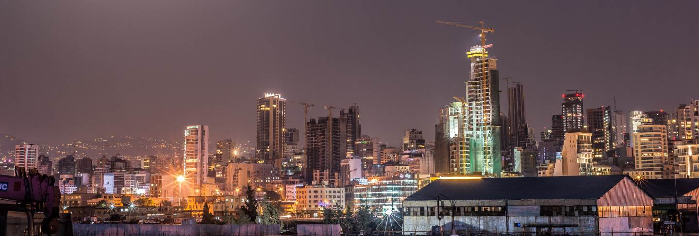 Lebanon beirut city skyline