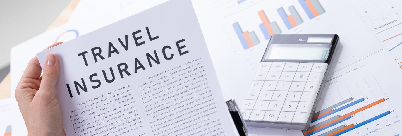 Travel insurance concept, documents on the desktop