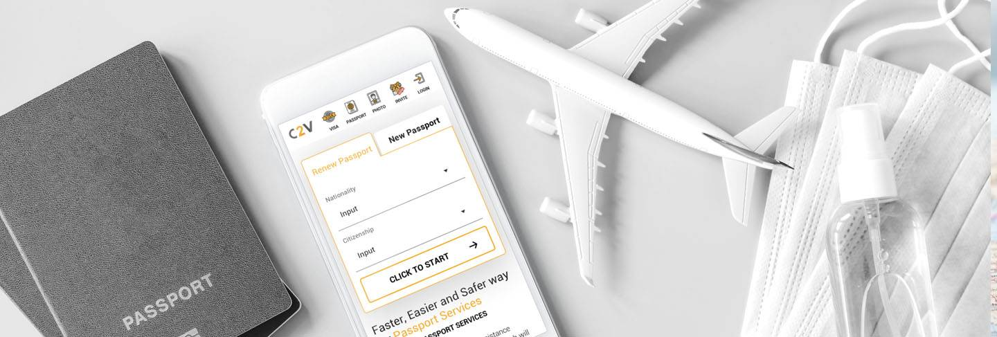 Covid-19 cannot stop you from renewing a passport. Renew your passport online through cliclk2visas. Enjoy the new safe Fly.