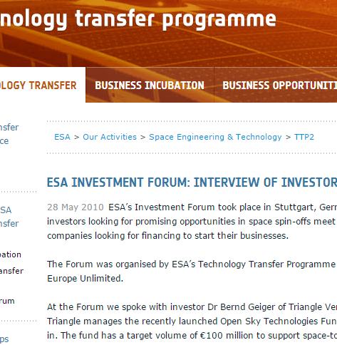 Interview with Bernd Geiger ESA