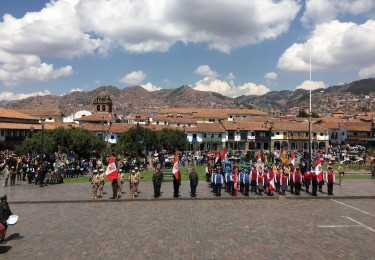 Flags in Cusco