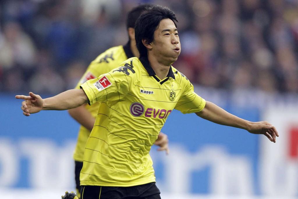 Borussia Dortmund midfielder Shinji Kagawa.