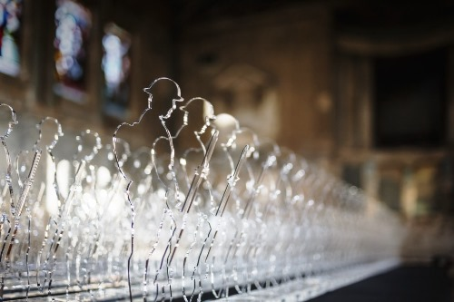 "10""/25cm tall Perspex® acrylic 'Tommy' was designed to commemorate the 888,246 British and Commonwealth servicemen and women who lost their lives in the war."
