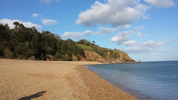 view of Slapton Sands, where Exercise Tiger was carried out