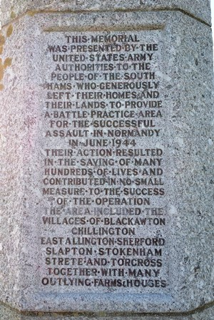Inscription on memorial on Slapton Sands