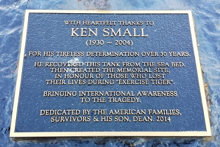 Ken Small Memorial plaque