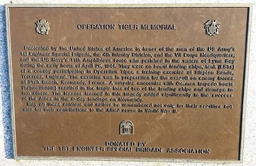 Operation Tiger Memorial