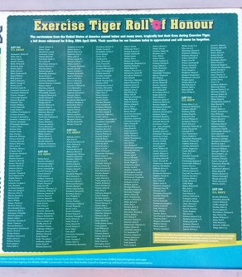 Exercise Tiger Roll of Honour