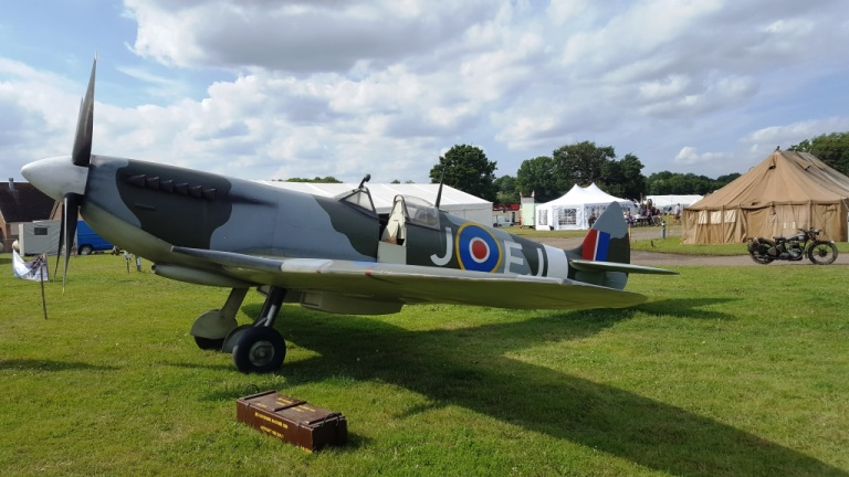 Spitfire replica at the War and Peace Show.