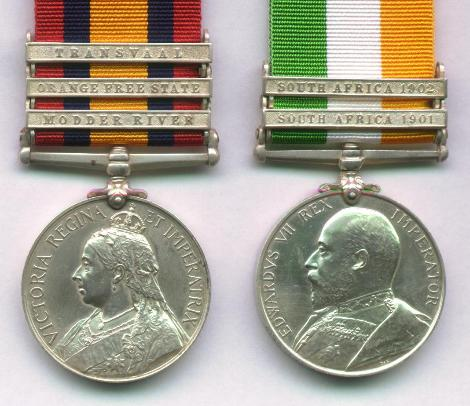 Medals with Bars attached
