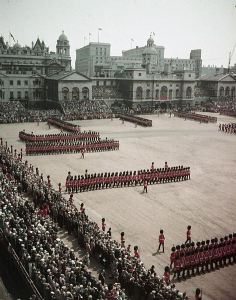 Trooping the Colour June 1956. Credit: Wikipedia image in public domain