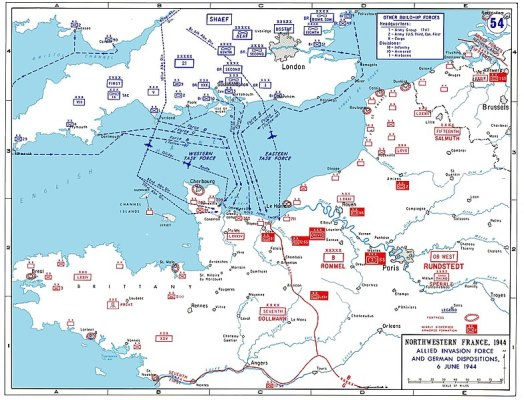 Map of the D-Day landings - Wiki image