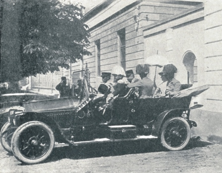 Archduke Franz Ferdinand's car moments before shooting in Sarajevo 28th June 1914
