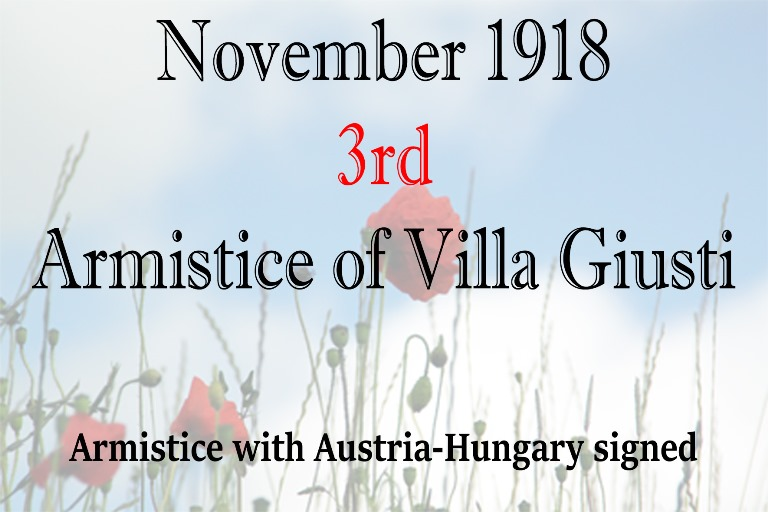 Armistice with Austria-Hungary signed