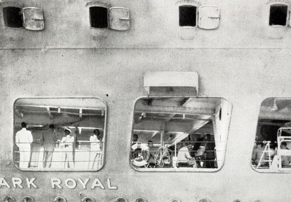 HMS Ark Royal as she lay dockside at Rio de Janeiro in 1939