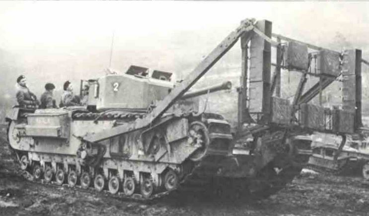 The Jones Onion, seen here carried by a Churchill tank.