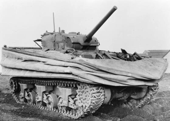 Sherman DD (Duplex Drive) Tank – Wiki Image