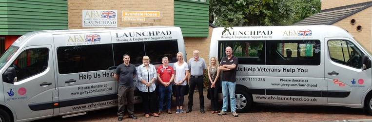Launchpad's staff and minibuses.