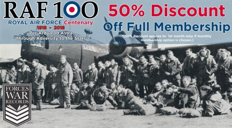 Forces War Records is offering you HALF PRICE membership