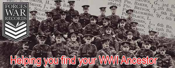 Forces War Records - Helping you find your WWI ancestor