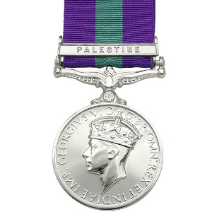 General Service Medal with Palestine Clasp