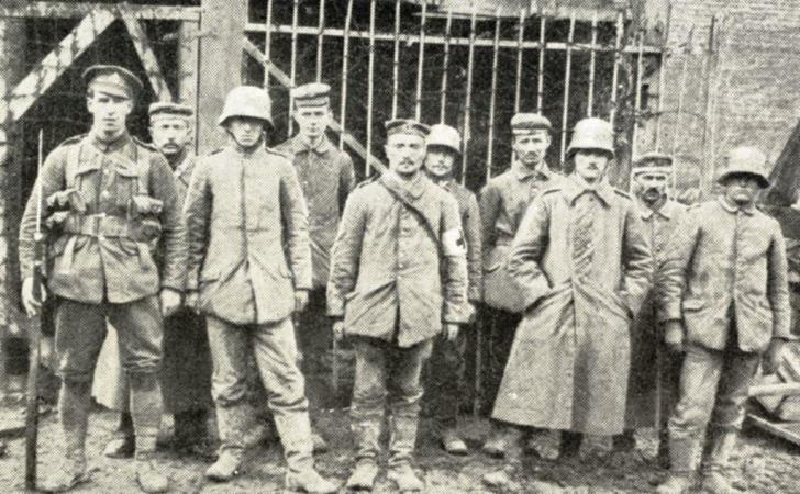 German prisoners, taken by the British in the great battle which began on March 21st, 1918