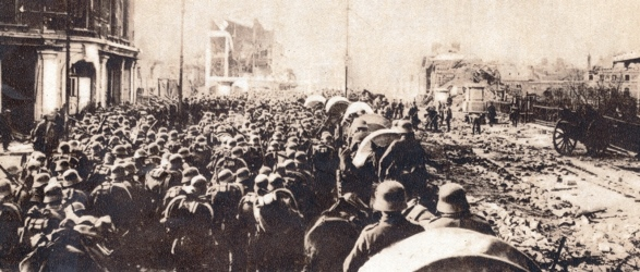 German troops amassing in St. Quentin for Spring Offensive 21st March 1918