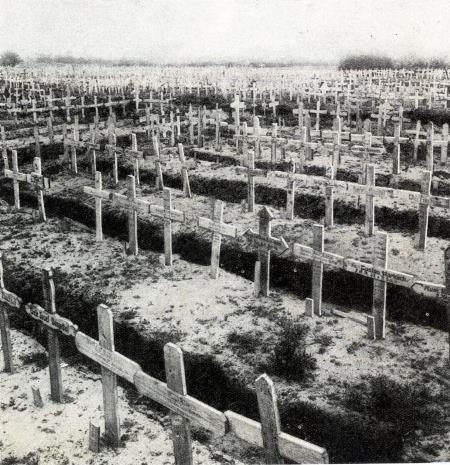 German war cemetery at Sailly sur Lys buriel place of 5000 German soldiers buried between May and the final German retreat 1918