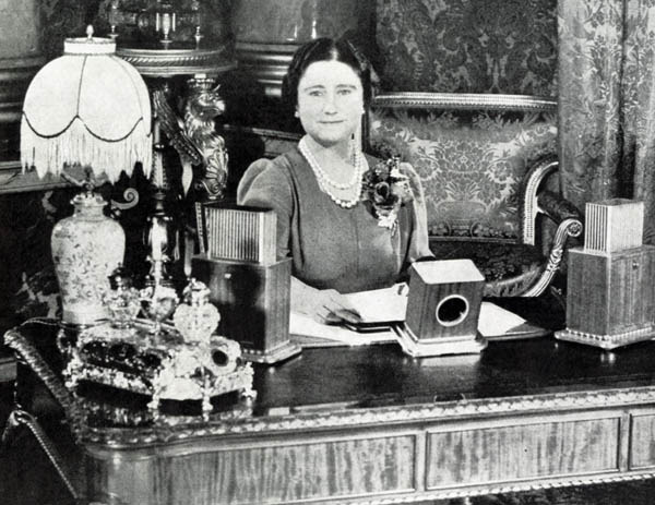 Her Majesty the Queen broadcasting a message of hope and encouragement on Armistice Day.